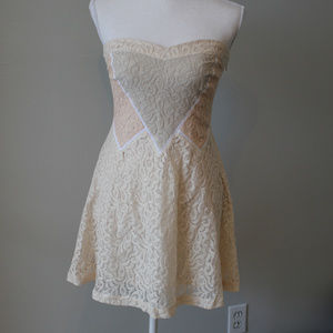 Urban Outfitters KImchi Blue Lace Ivory Dress